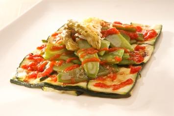Resultado de imagen de ensalada tibia de judias calabacines rabanitos